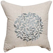Country Solid Embroidery Linen Decorative Pillow Cover