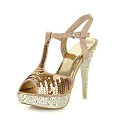 Fantastic Sequin Stiletto Heel Peep Toe Sandals Party / Evening Shoes(More Colors)