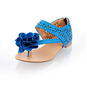 Stylish Leatherette Flat Heel Sandals/Flats With Flower Hollow-out Party & Evening Shoes (More Colors)