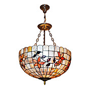 120W clássico Tiffany Pendant Light com Colorful Nature Shell Material Sombra Integrado em Sunflower recurso
