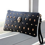 Fashion Punk Skull Rivet Wristlet