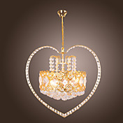 Golden Crystal Ceiling Light with 4 Lights