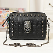 Punk Skull Rivet Chain Crossbody&amp;Messenger Bag