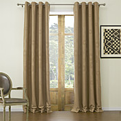 (Two Panels) Classic Embossed Floral Blackout Curtains