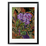 Framed Art Print Floral Manaji by Mindy Sommers