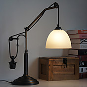 Pulley Complex Rural-Style Retractable Glass Shade Turkey Table Lamp