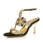 Stylish Leather Stiletto Heel Sandals With Rhinestone Party/Evening Shoes(More Colors)