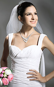 Beautiful Two Layers Elbow Length Wedding Veil