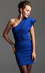 TS Layered Ruffle One Shoulder Bodycon Dress (More Colors)