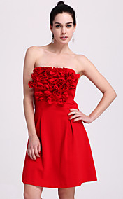 TS Ruffle Flower Strapless Dress (More Colors)