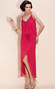 TS Spaghetti Strap Chiffon Flow Dress
