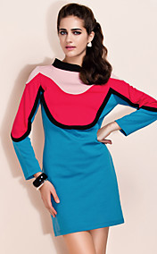 TS Color Block Thick Jersey Dress