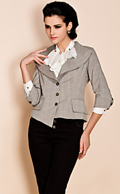 TS Check Pattern Lapel Blazer