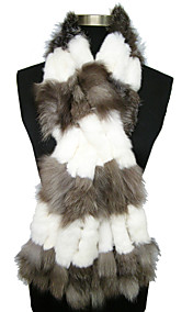 Gorgeous Rabbit Fur And Fox Fur Party / Evening Scarf/Shawls (More Colors)
