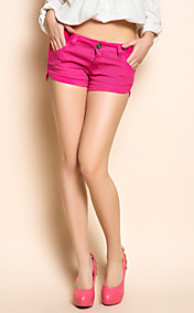 TS Garment Wash fucsia Denim Shorts
