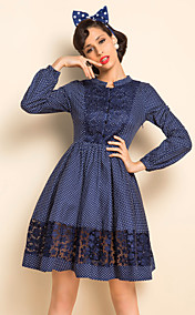 TS VINTAGE Polka Dots Dress Lace