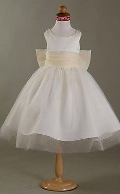 ADIRA - Robe de Communion Satin Tulle