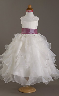 CAMERON - Robe de Communion Organza Satin