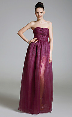 Organza Sheath/ Column Sweetheart Floor-length Evening Dress inspired by Sandra Bullock at Golden Globe