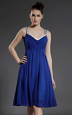 Chiffon A-line V-neck Knee-length Cocktail Dress inspired by Taylor Swift