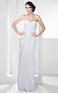 Chiffon Sheath/Column Floor-length Floor-length Evening Dress inspired by Giuliana Rancic