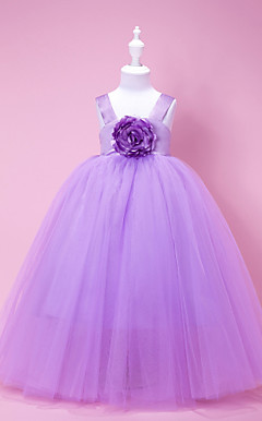 Amazing Ball Gown Straps Floor-length Flower Girl Dress