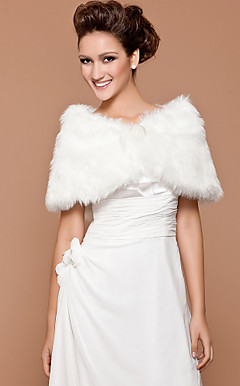 wedding faux fur / scialle occasione speciale