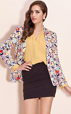 ts vintage bloemenprint blazer