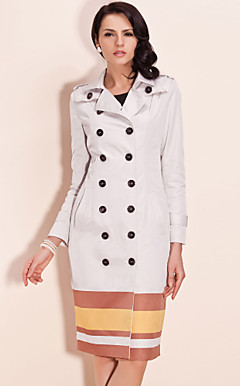 TS Stripped Double Breasted Trench Coat