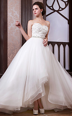Ball Gown Sweetheart Floor-length Organza Wedding Dress