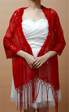 Nice Lace Party/Wedding Shawl With Tassels
