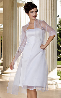 Splendida Organza 3/4-length manica Giacche da sposa / Wrap (pi colori)