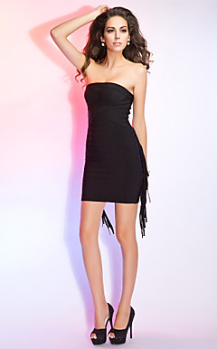 Sheath/Column Strapless Sleeveless Short/Mini Bandage Dress