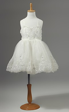 Chiffon Flower Girl Dress With Flowers