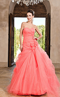 Ball Gown Sweetheart pavimento-lunghezza tulle abito da sera