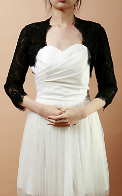 Half-Sleeve Lace Wedding / Evening Jacket / Wrap (flere farger)