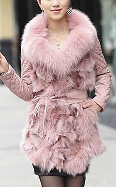 Gorgeous Long Sleeve Party/Evening Fox Fur Coat(More Colors)