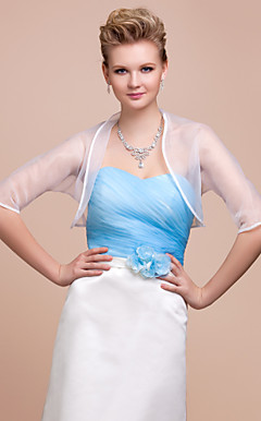 3/4-length Sleeves Organza With Special Occasion Jacket/ Wedding Wrap (More Colors)