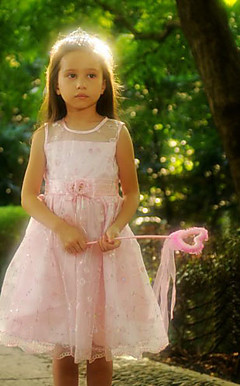 Nice A-line Sleeveless Satin/Tulle Wedding/Evening Flower Girl Dress