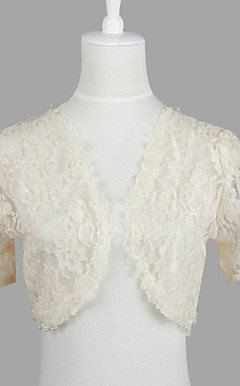 Nice Short Sleeve Lace Evening/Casual Wrap/Jacket (More Colors)