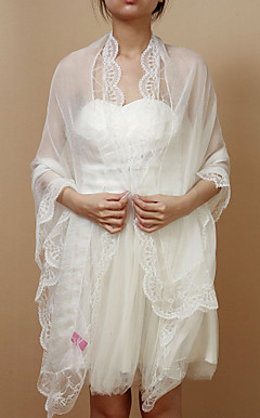 Nice Chiffon/Lace Evening/Casual Shawl