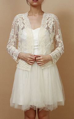 Long Sleeve Tulle/Lace Evening/Casual Wrap/Jacket