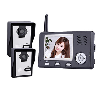2.4GHz Wireless 3.5 Inch Monitors Video Door Phone with 2 Camera