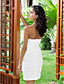 Sheath / Column Sweetheart Short / Mini T-shirt Taffeta Wedding Dress With Wrap