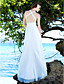 Sheath/Column Straps Sweep / Brush Train Chiffon Wedding Dress