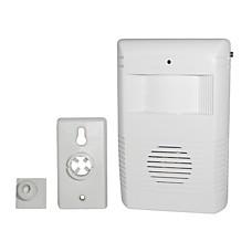 venta al por mayor movimiento compacto luz timbre inalámbrico detectar con el sonido de voz y música de 16 sonidos seleccionables (qw099)