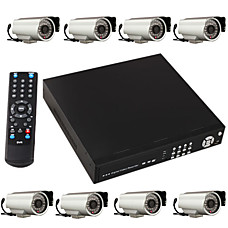 venta al por mayor 8 ir canal infrarrojo de visión nocturna en tiempo real de cámaras de seguridad de red DVR dvr de vigilancia