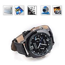venta al por mayor HD 720p 4gb espía reloj de pulsera impermeable cámara grabadora de video digital con función de cámara de la PC / cámara oculta