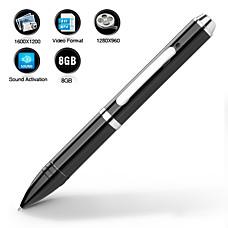 venta al por mayor bolígrafo espía con cámara activa el sonido + 8gb de memoria