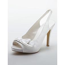 vente en gros élégant satin supérieure sandales à talons hauts moulants avec des chaussures de mariage bowknot mariée (0796-9009)